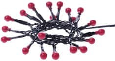 EMOS vnútorná reťaz Cherry s časovačom 20LED, červená