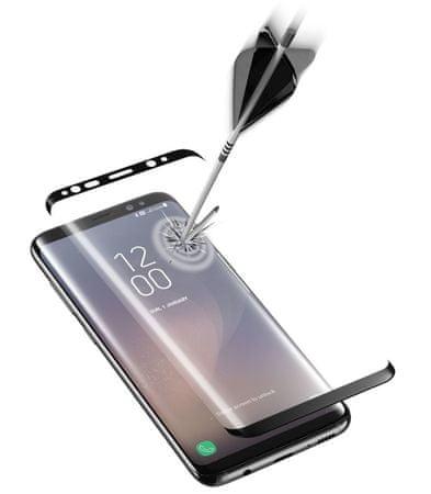CellularLine zaščitno steklo Capsule za Samsung Galaxy S8, črno