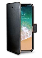 Celly Pouzdro typu kniha Wally pro Apple iPhone 8, PU kůže, černé