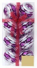 Seizis Koule průhledné 6cm fialové, 2 x 8ks
