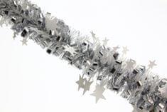 Seizis Řetěz s hvězdičkami 2m bílo-stříbrný, 2ks