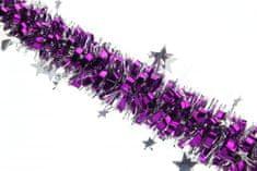 Seizis Řetěz s hvězdičkami 2m fialovo-stříbrný, 2ks