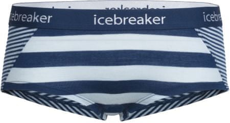 Icebreaker Wmns Sprite Hot Pants Ice Blue/Largo/Stripe M