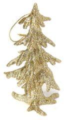 Seizis Stromek závěsný šampaň s glitrem, 11cm, 2ks