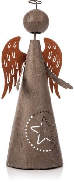 Decorium Kovový anděl, 26 cm