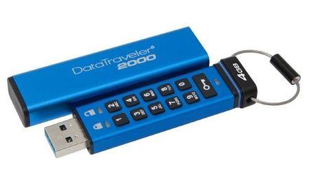 Kingston prenosni USB disk DataTraveller 2000, USB3.1/3.0/2.0, numerična tipkovnica (DT2000/4GB)