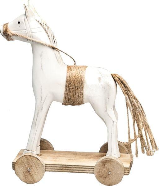 Decorium Dřevěný kůň na kolečkách, 24 cm