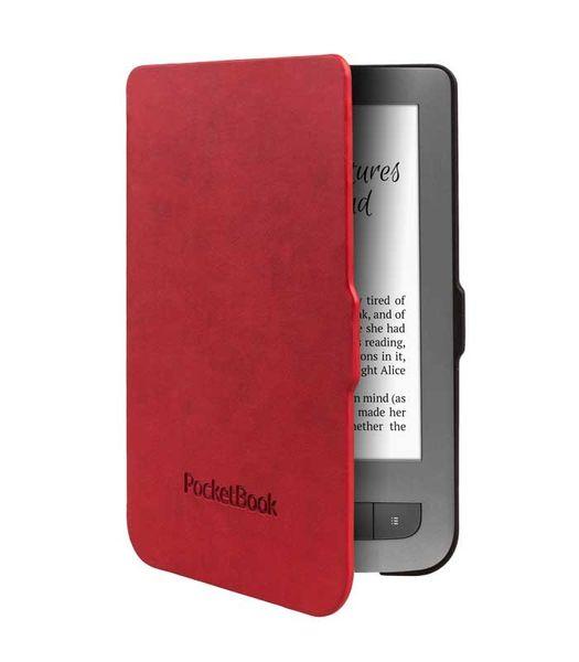 PocketBook pouzdro pro 614/623/624/626, skořepinové, černo-červené
