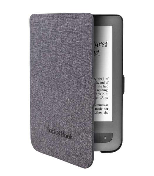 PocketBook pouzdro pro 614/623/624/626, skořepinové, černo-šedé