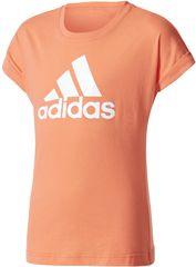 Adidas YG Logo Tee Easy Coral/White