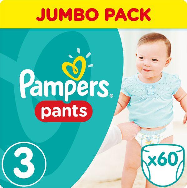 Pampers Plenkové kalhotky ActivePants 3 Midi Jumbo Pack 60 ks