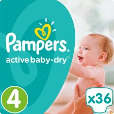 Pampers plenice Active Baby 4 Maxi, 36 kosov