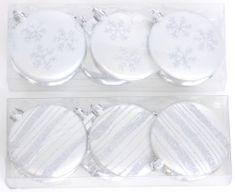 Seizis Set plochých ozdob 8 cm, mix 2 dekorů, stříbrné
