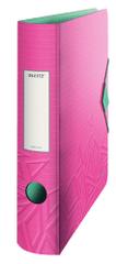 Mobilní pořadač Leitz 180° Urban Chic A4 6,5 cm růžový