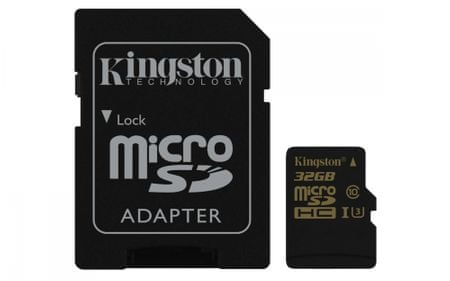 Kingston pomnilniška kartica microSDHC 32GB Class 10 UHS-I(SDCG/32GB)