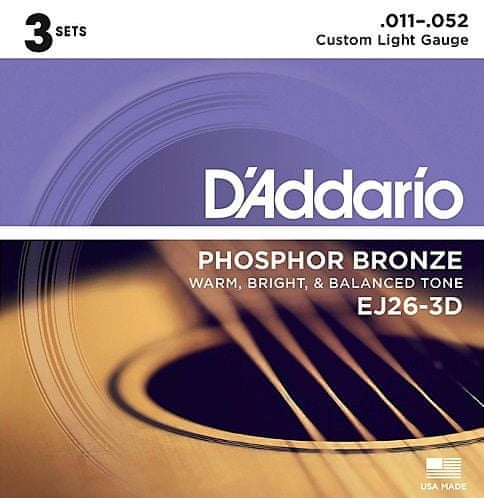 Daddario EJ26-3D Kovové struny pro akustickou kytaru