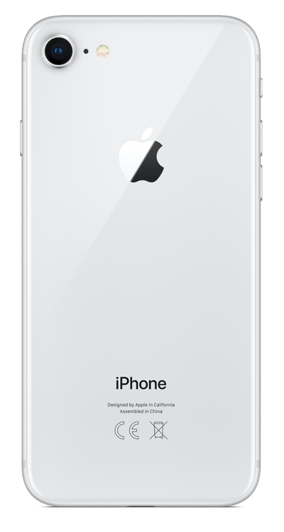 Apple Refurbished iPhone 8, 64GB, Silver