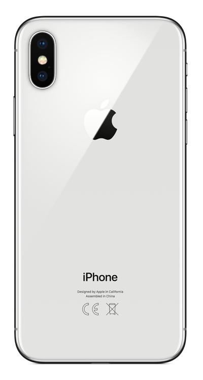 Apple Refurbished iPhone X, 64GB, Silver