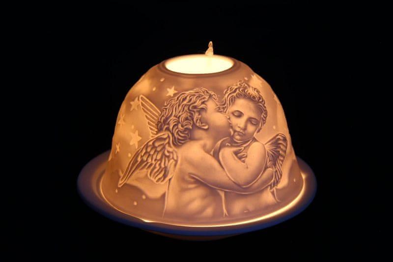 Seizis Svícínek na čajovou svíčku, motiv andělé