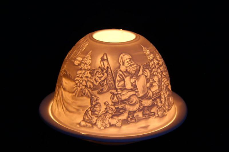 Seizis Svícínek na čajovou svíčku, motiv Santa