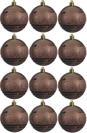 Kaemingk dekorativen okrasek 12 kosov rjav