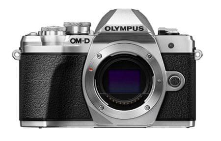 Olympus digitalni brezzrcalni fotoaparat OM-D E-M10 Mark III, ohišje, srebrno