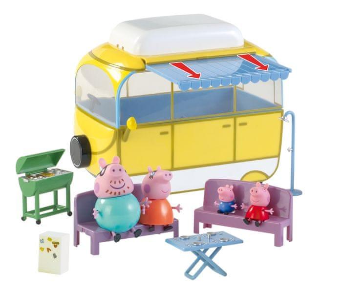 TM Toys Peppa Pig - Karavan s příslušenstvím + 4 figurky