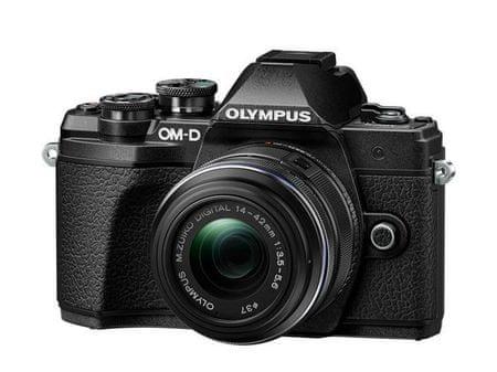 Olympus digitalni brezzrcalni fotoaparat OM-D E-M10 Mark III + 14-42 mm II R, črn