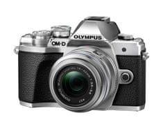 Olympus digitalni brezzrcalni fotoaparat OM-D E-M10 Mark III + 14-42 mm II R, srebrn