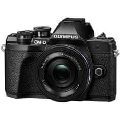 Olympus digitalni brezzrcalni fotoaparat OM-D E-M10 Mark III + ED 14-42 mm 3.5-5.6 EZ, črn