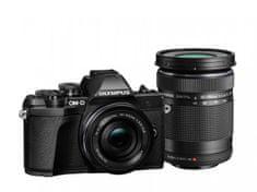 Olympus digitalni brezzrcalni fotoaparat OM-D E-M10 Mark III + 14-42 mm + 40-150 mm, črn