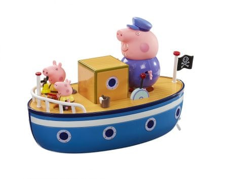 TM Toys Peppa Pig - Łódka z 3 figurkami