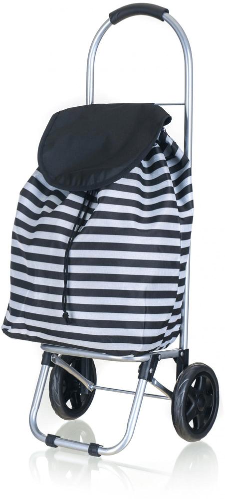 BRILANZ Nákupní taška na kolečkách 87x35x28 cm černá - zánovní