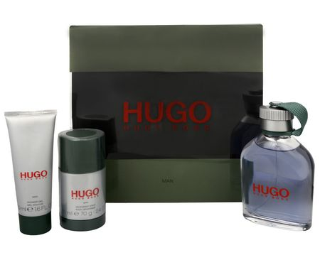 Hugo Boss Hugo EDT, 125 ml + deodorant v stiku, 75 ml + gel za prhanje, 50 ml