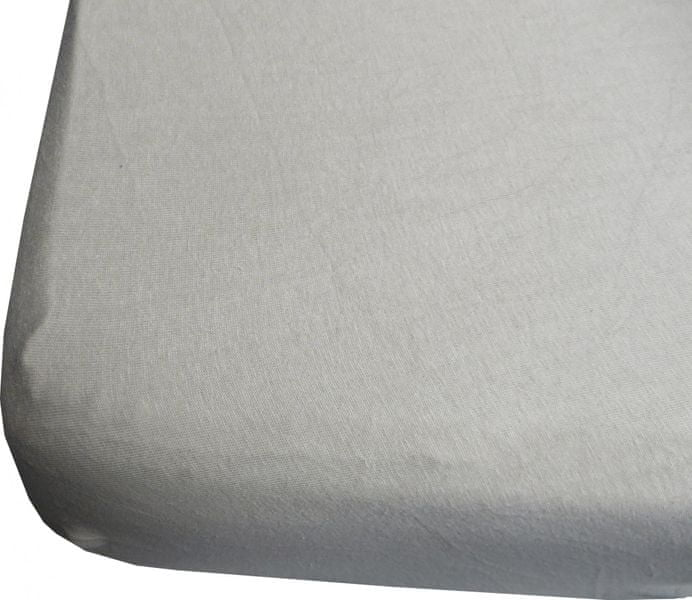 Jerry Fabrics prostěradlo s lycrou 180x200 šedá