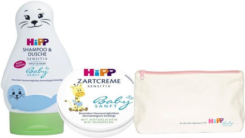 HiPP Babysanft Péče o tělo + Hipp kosmetická taštička zdarma
