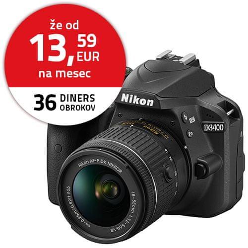 Nikon D3400 + 18-55 AF-P VR Black