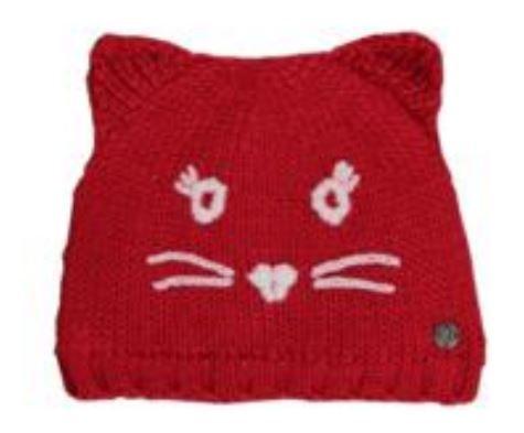 OLIVER dívčí čepice kočička 51 - 53 růžová