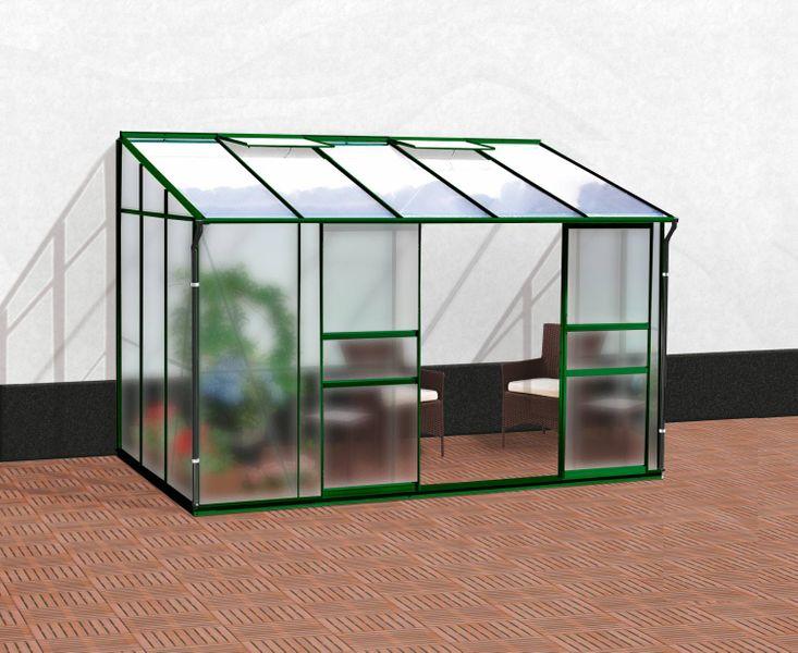 VITAVIA skleník VITAVIA IDA 6500 matné sklo 4 mm + PC 6 mm zelený
