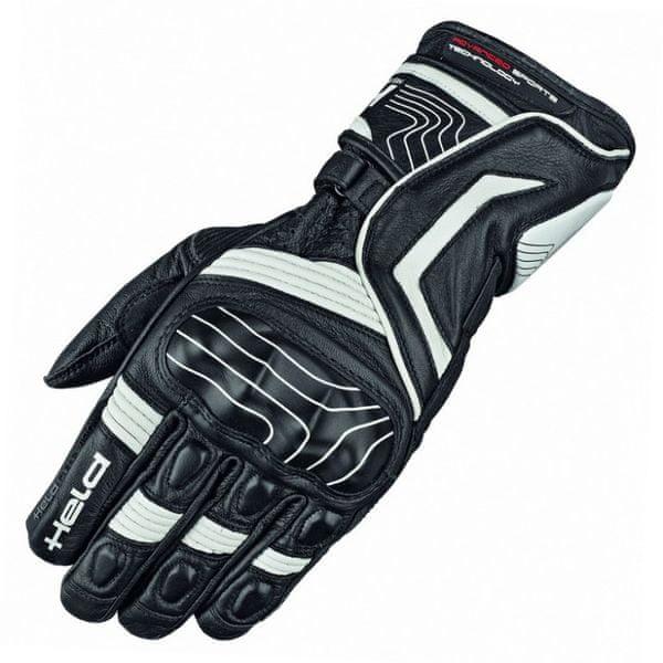 Held rukavice dámské REVEL vel.8 černá/bílá, kůže (pár)