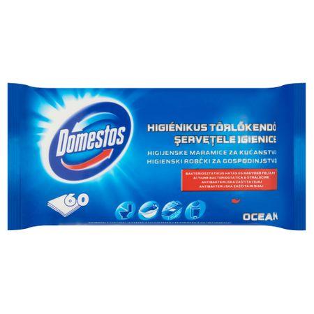 Domestos Higiénikus törlőkendő, Ocean, 60db