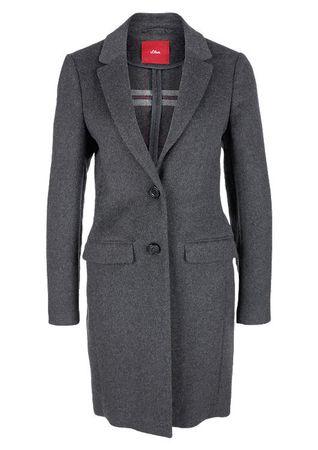 s.Oliver dámský kabát 34 šedá