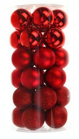 Seizis komplet plastičnih bunkic, rdeča mešanica, 30 kosov