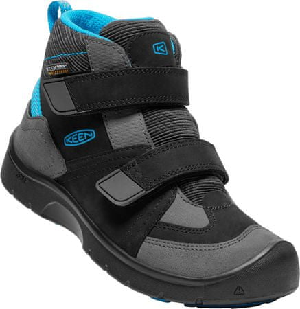 KEEN Hikeport Mid Strap Wp Jr black/blue jewel US 1 (32/33 EU)