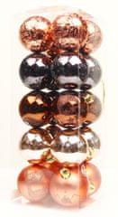 Seizis Set 20 koulí s dekorem, 6cm mix barev