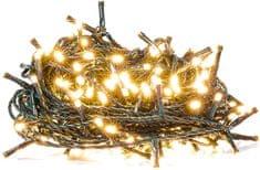 Retlux Vánoční řetěz 100LED časovač, teplá bílá