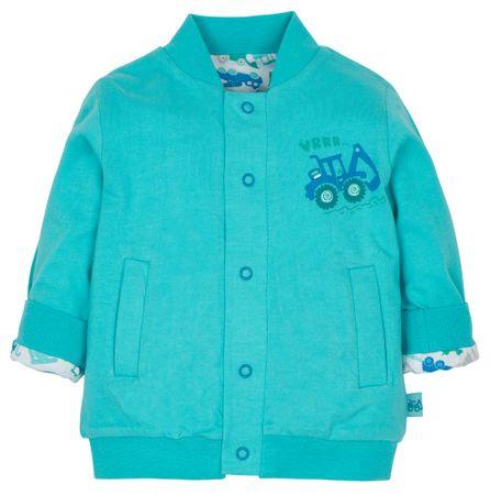 G-mini chlapecký oboustranný kabátek Bagr modrá 92