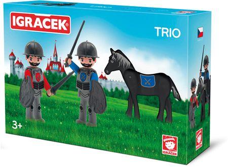 Igráček TRIO - Dva rytíři a černý kůň