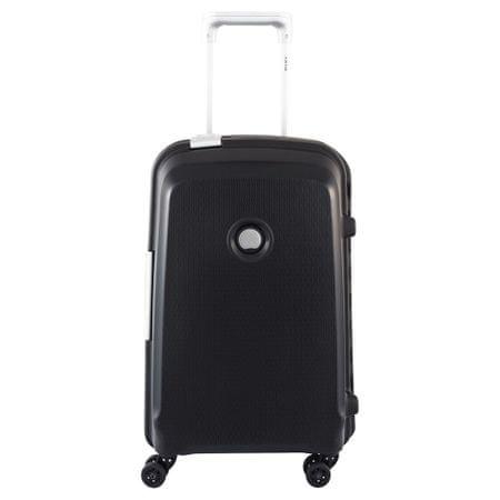 Delsey kovček Belfort Plus, kabinski, 55 x 35 x 25 cm, črn