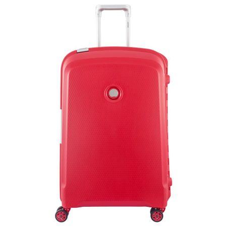 Delsey kovček Belfort Plus, srednji, 70 x 47 x 28 cm, rdeč